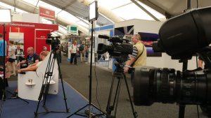 blue vision media auf der ILA